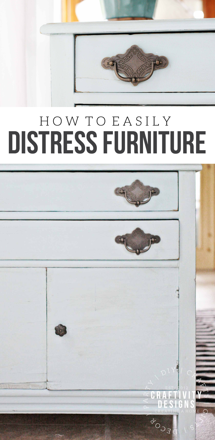 How to Distress Furniture with Chalky Finish Paint. How to Choose Hardware for Vintage Furniture. DecoArt Americana Decor Chalky Finish Paint in Vintage. Painted Furniture Makeovers. @CraftivityD37