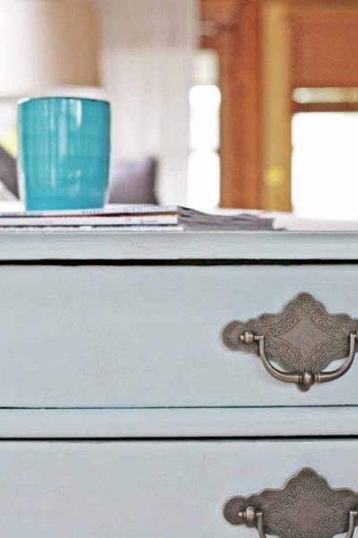 How to Easily Distress Furniture with Chalky Finish Paint