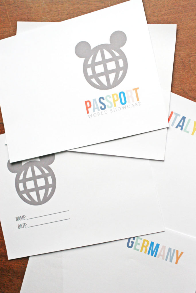 Are you going to Disney World? Learn how to make a DIY World Showcase Passport for your trip to use at each country's pavilion in Epcot.