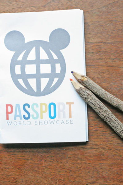 How to make a DIY World Showcase Passport {+ a Giveaway!}