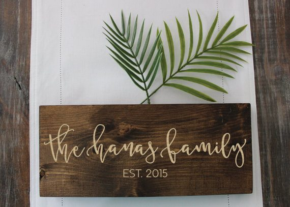Personalized Wood Engraved Sign (Click Image to View the Listing)