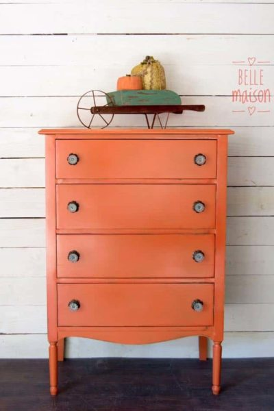 6 Orange Furniture Makeovers | A Bold Pop of Color