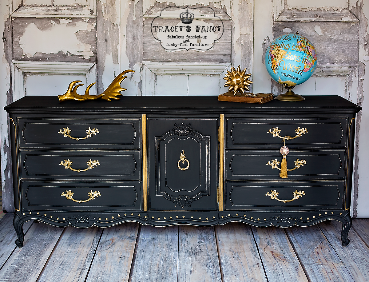 9 Dramatic Furniture Makeovers With Black Paint