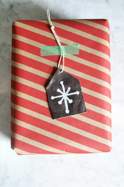 How to Make Leather Gift Tags and Ornaments