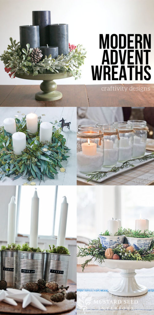 17 different modern diy advent wreath ideas
