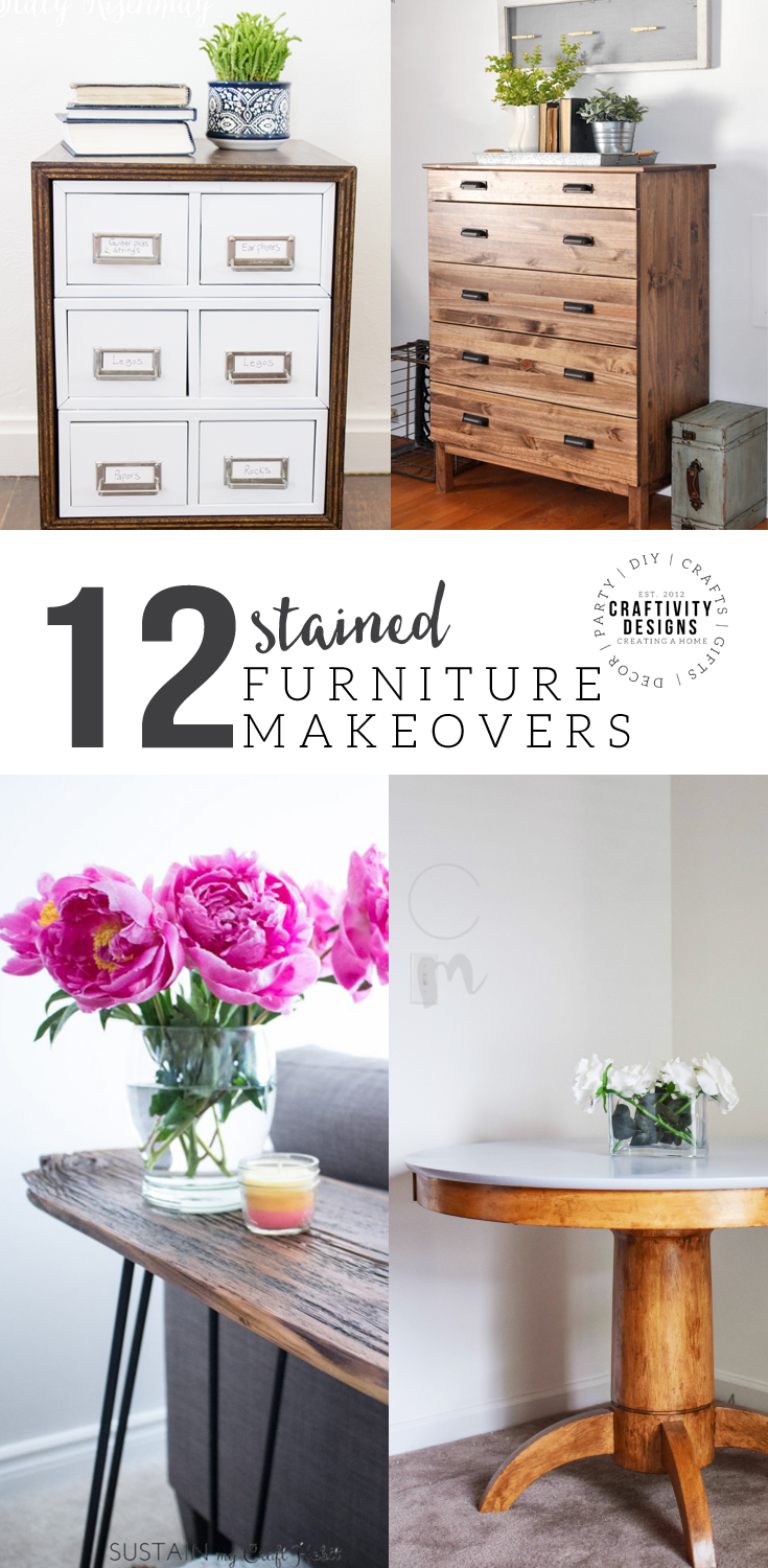 Do you have old furniture lying around? Update it! Check out12 stained furniture makeovers and techniques that will inspire you to get started, today.