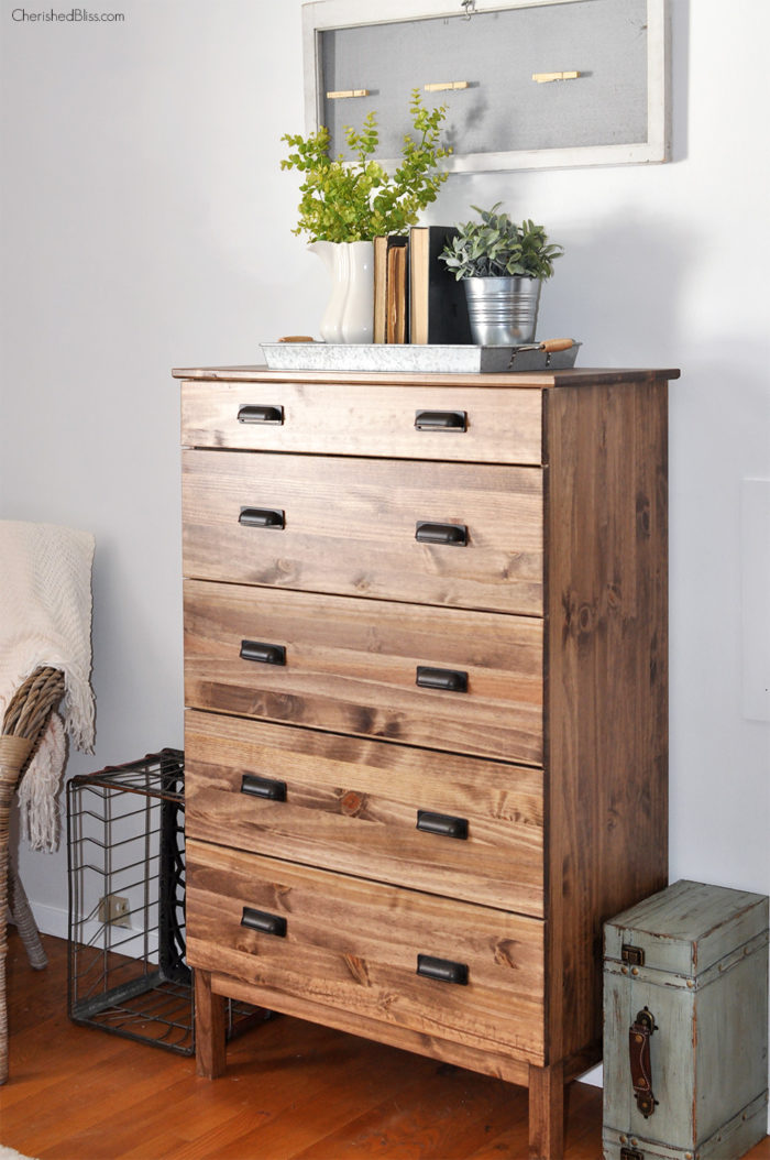 Cherished Bliss, Do you have old furniture lying around? Update it! Check out12 stained furniture makeovers and techniques that will inspire you to get started, today.