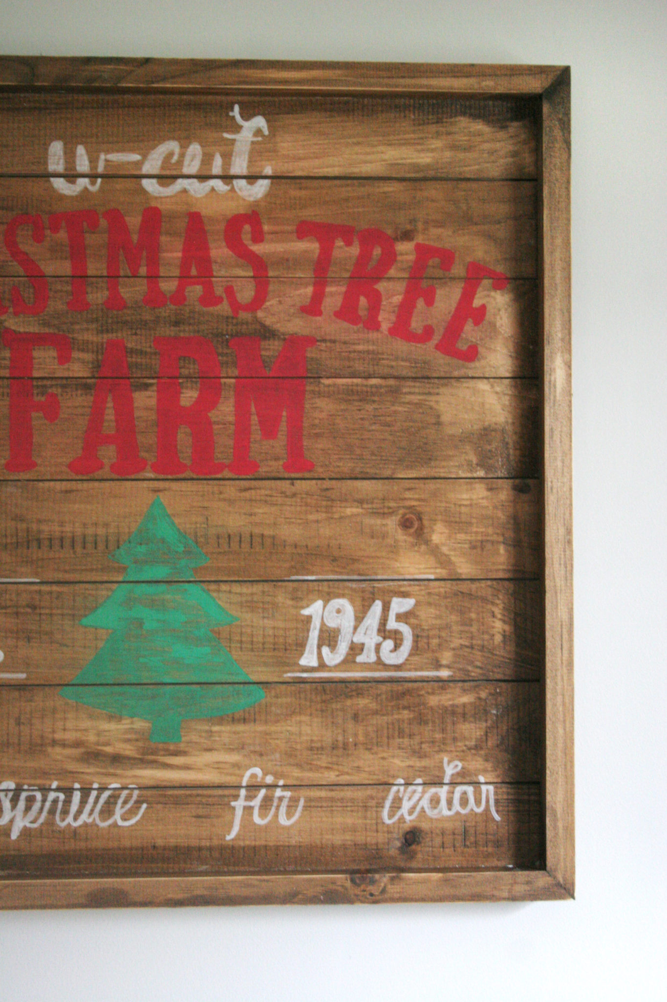 How to make a wooden christmas sign u cut tree farm