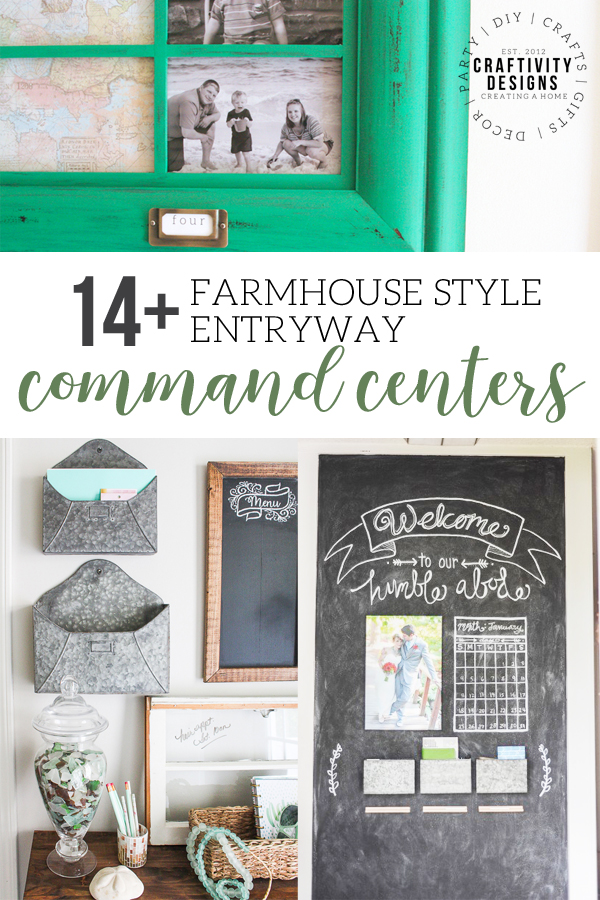 14+ Farmhouse Style Entryway Command Center Ideas, Foyer and Entry Ideas for the home with industrial, farmhouse, modern, or rustic style! #farmhousestyle #entryway #commandcenter