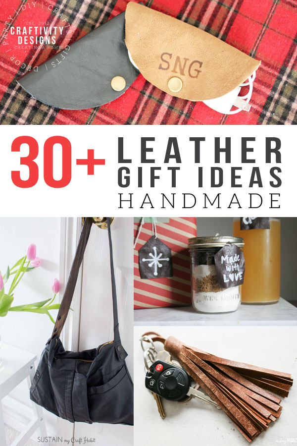 30+ Handcrafted Leather Gifts You'll want to Give {and Get!}. Plus handmade leather gifts aren't just
