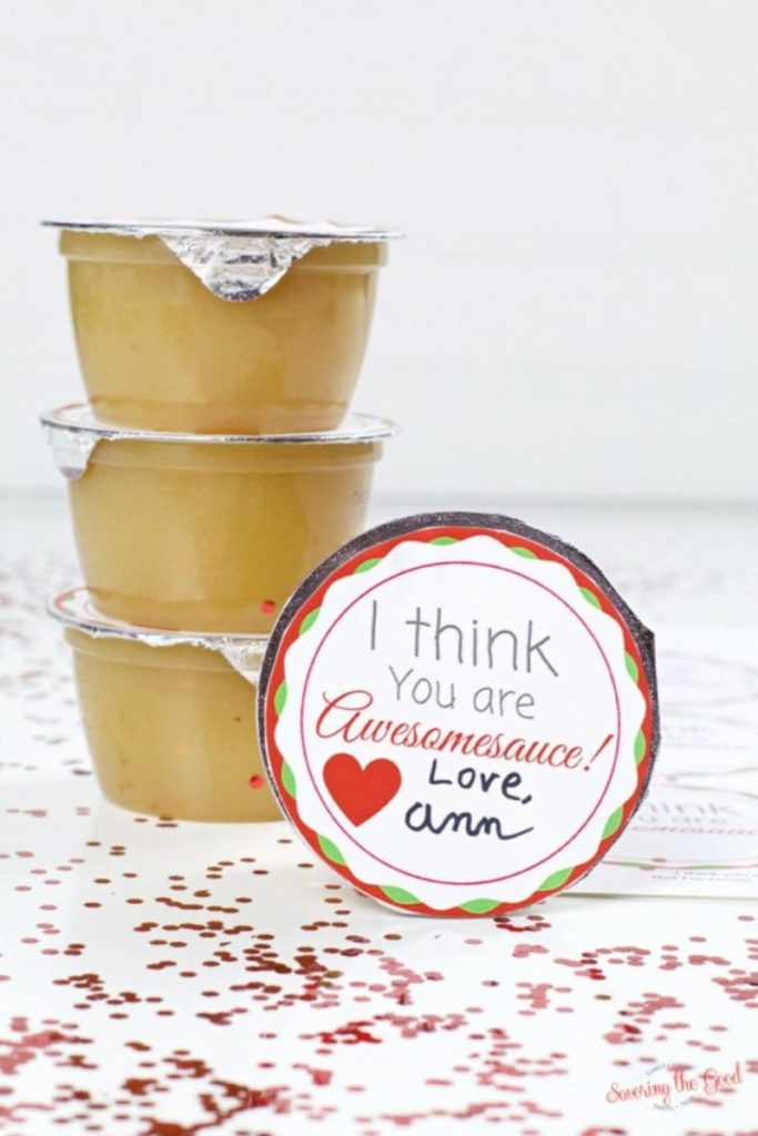 Valentines day applesauce