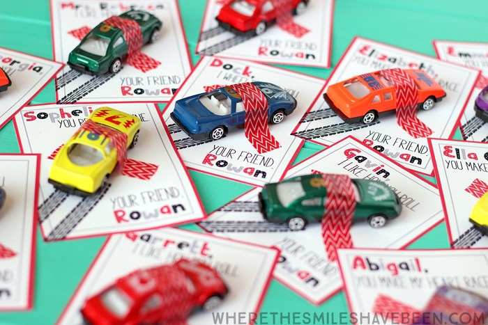 toy car valentines for kids