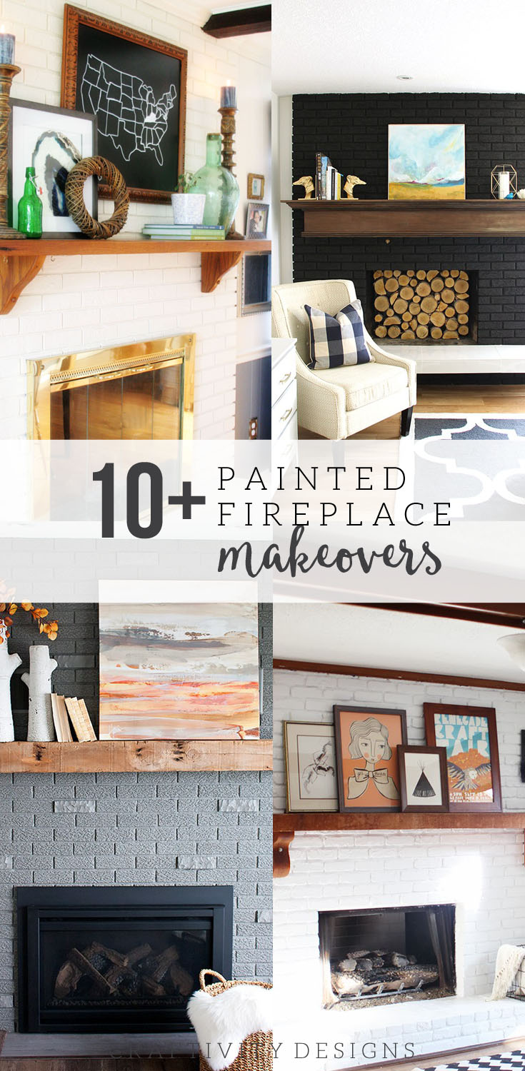 10+ Painted Fireplace Makeovers by Bloggers and DIYers!