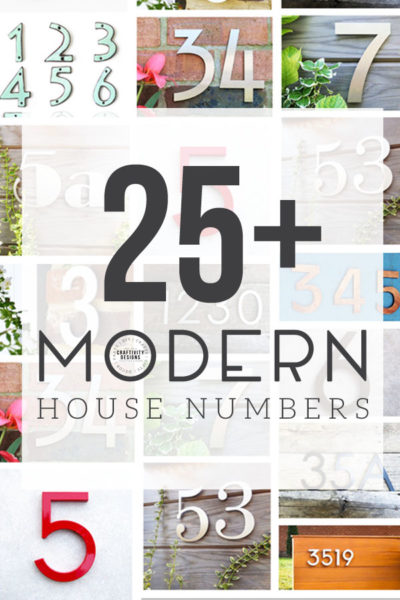 25 of the Best Modern House Numbers for Your Home