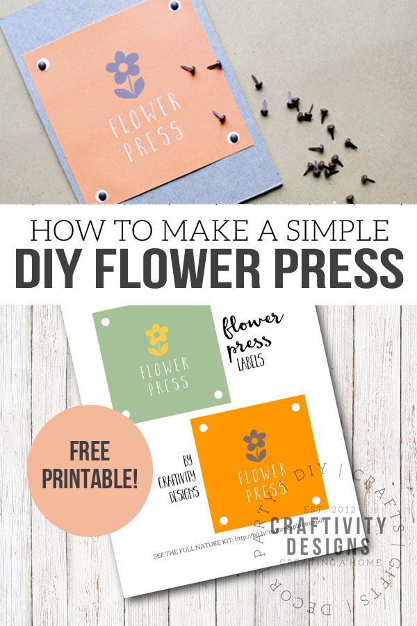 how to make a simple DIY flower press, free printable