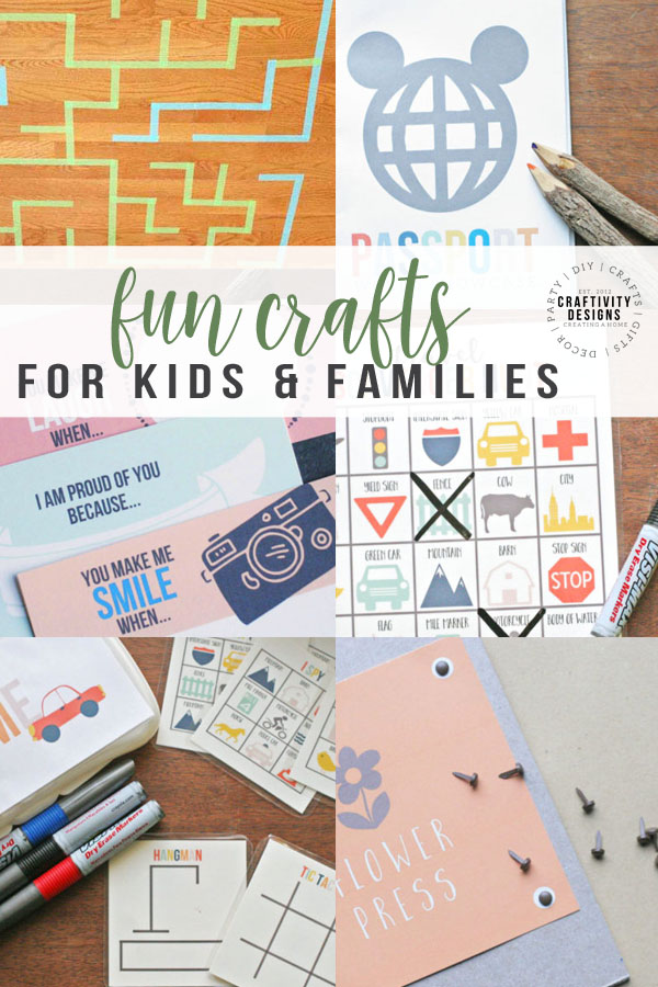 fun crafts for kids and families
