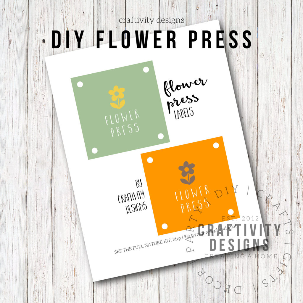 DIY flower press, free printable