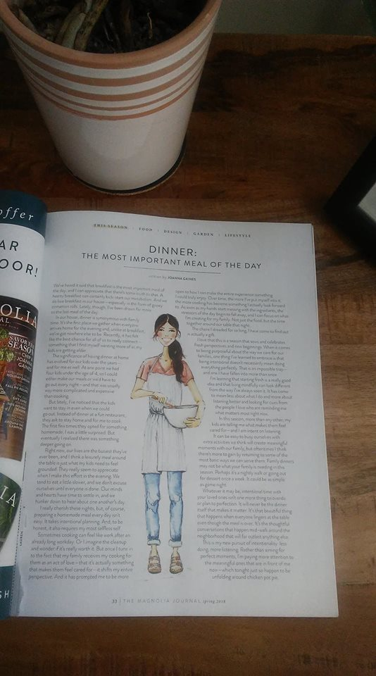Magnolia Journal, Spring 2018, Joanna Gaines, Dinner: The Most Important Meal of the Day