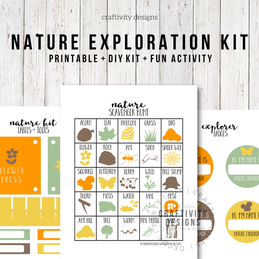 Nature Exploration Kit, nature kit printable