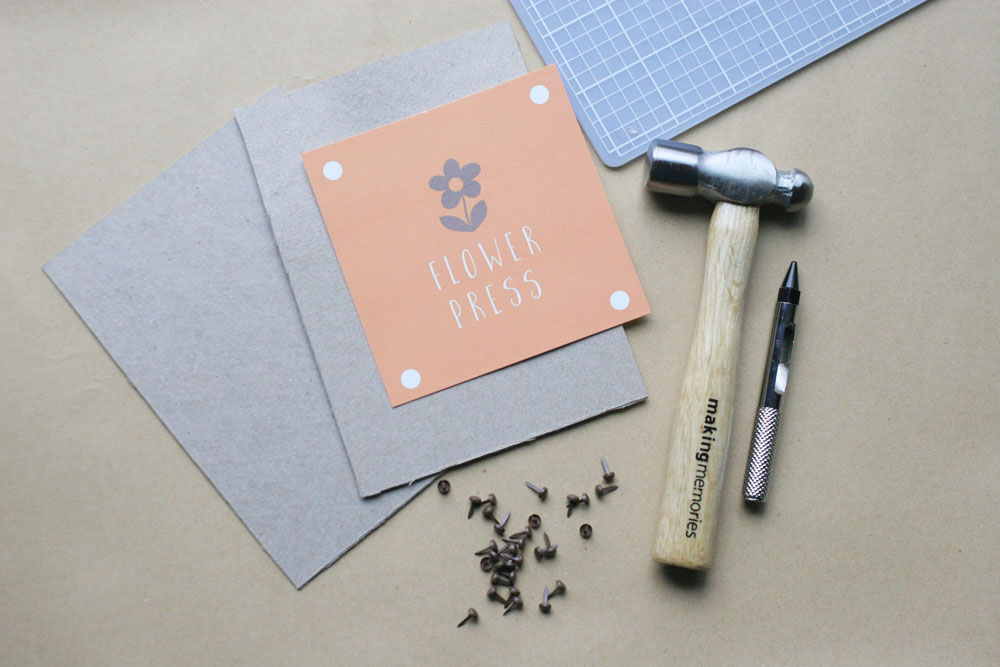 DIY flower press supplies