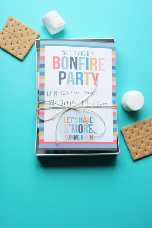 bonfire invitation, bonfire party