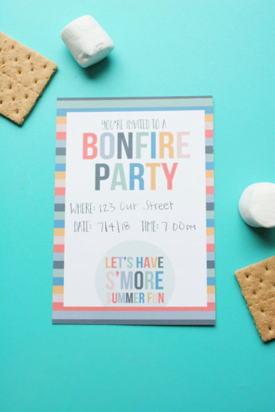 How to Host a Smores Party (+ Free Bonfire Invitation!)