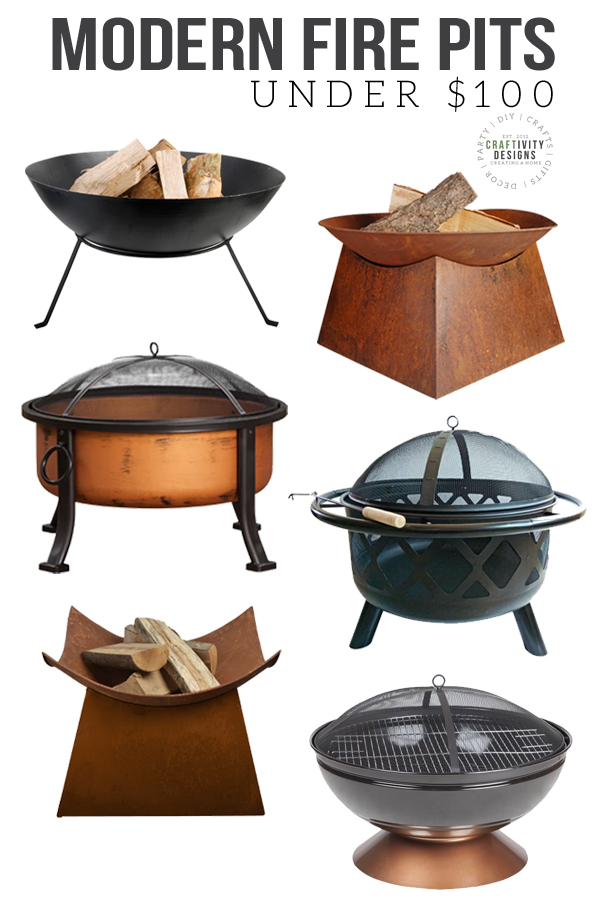 best fire pits under $100, modern fire pits
