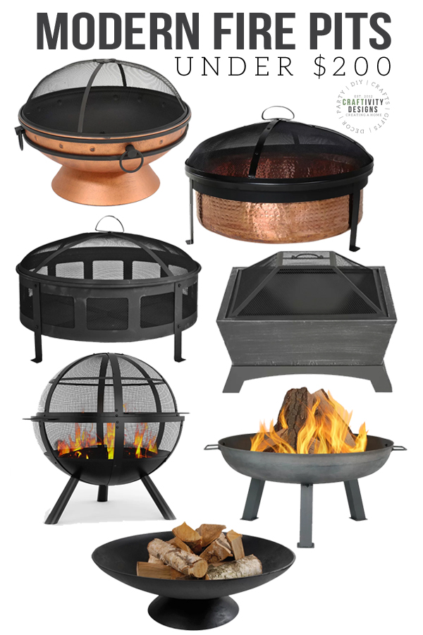 best fire pits under $200, modern fire pits