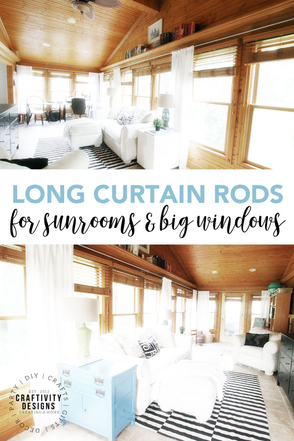 Extra Long Curtain Rods for Sunrooms and Big Windows