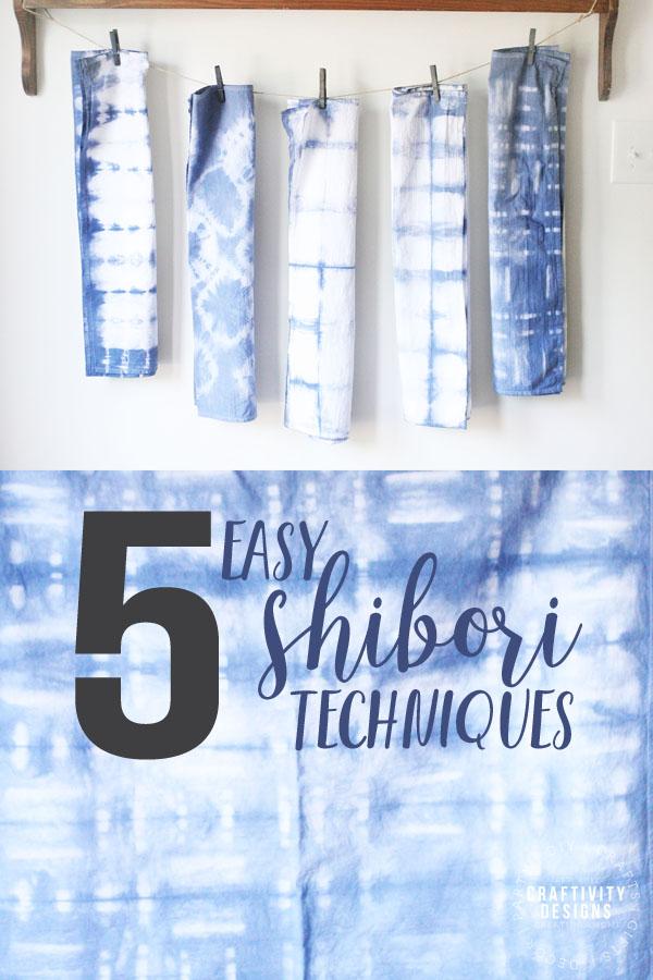 5 easy shibori techniques