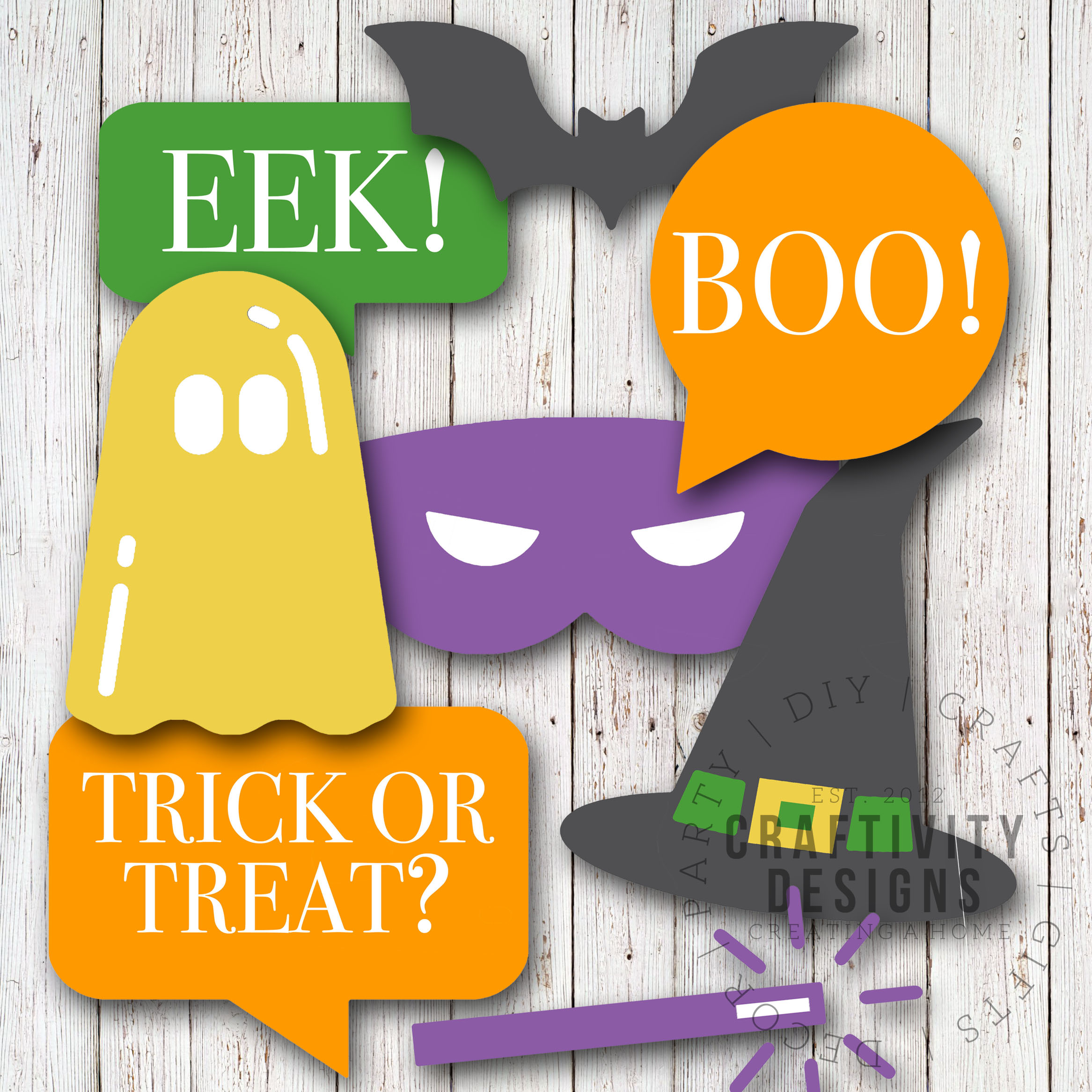 picture about Halloween Photo Booth Props Printable Free named How in direction of Produce Halloween Photograph Booth Props (+ a No cost Printable