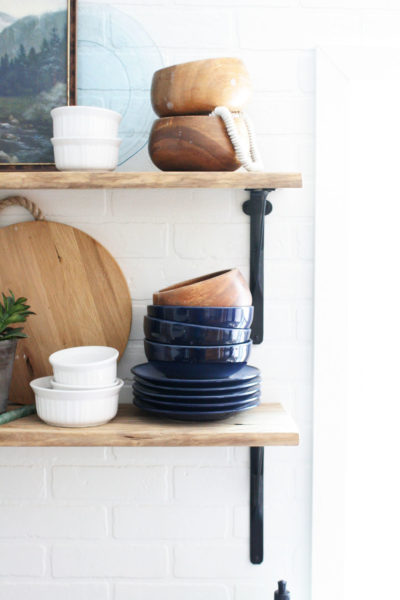 How to Style Open Shelving in a Kitchen in 3 Easy Steps