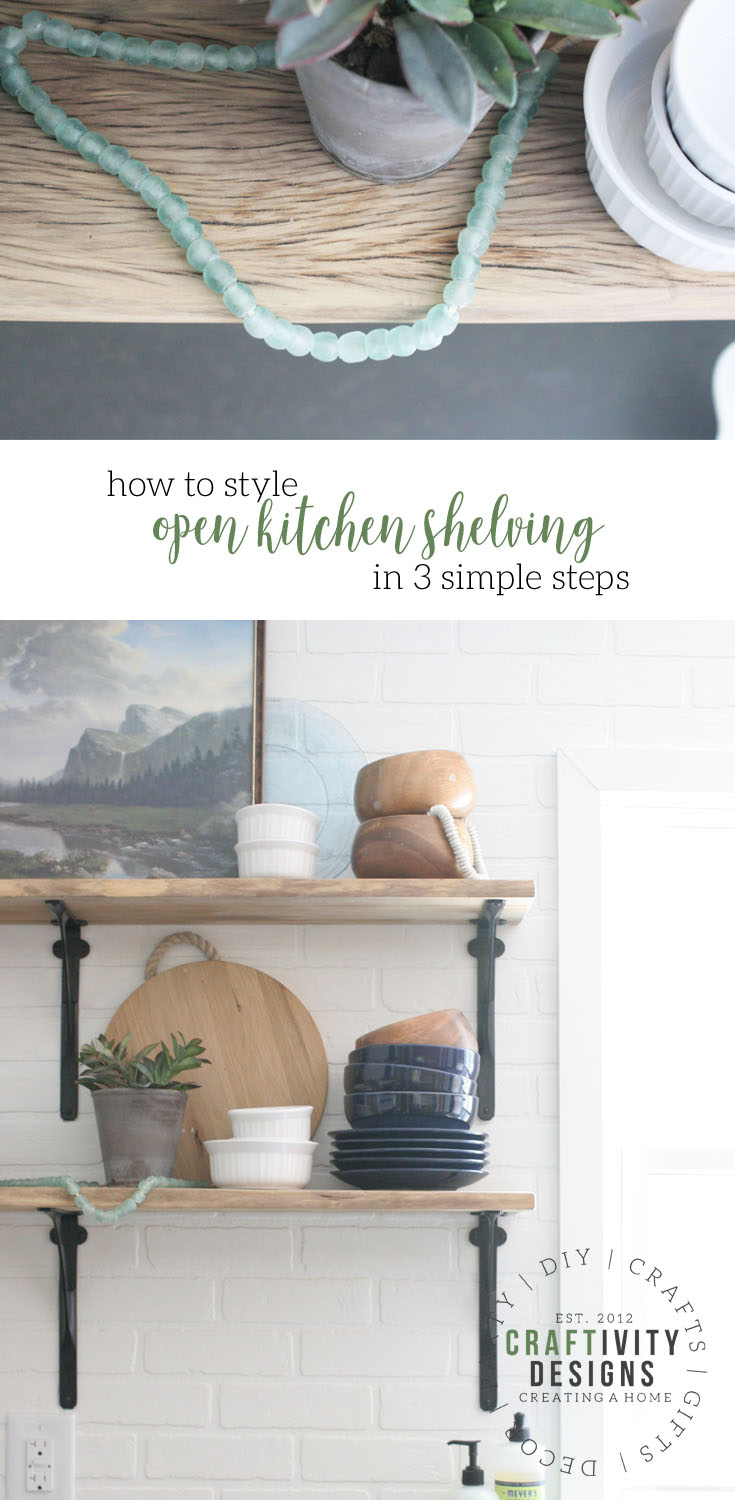 How to Style Open Shelving in a Kitchen in 3 Easy Steps – Craftivity Idea Long Kitchen Sheleves on long showers ideas, long kitchen islands with seating, long kitchen counter bar stools, long sunroom ideas, long roof ideas, long den ideas, long painting ideas, long kitchen cart, long kitchen island design, long entrance ideas, long pantry ideas, long bang ideas, long kitchen layout, long kitchen renovations, long bar ideas, long entryway ideas, long porch ideas, long narrow kitchen, long house ideas, long backyard landscape ideas,