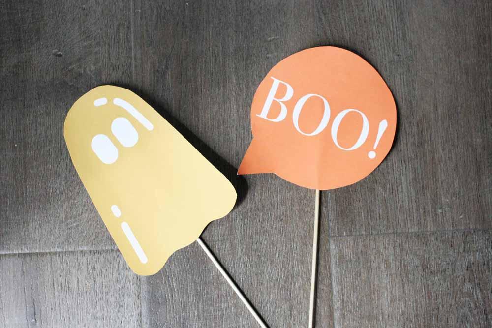 Halloween Photo Booth Props Printable, Boo Photo Booth Prop, Ghost Photo Booth Prop