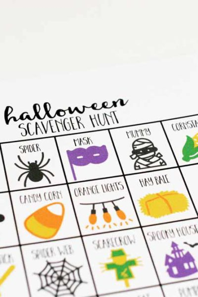 Fun Printable Halloween Scavenger Hunt for Kids (and Adults!)