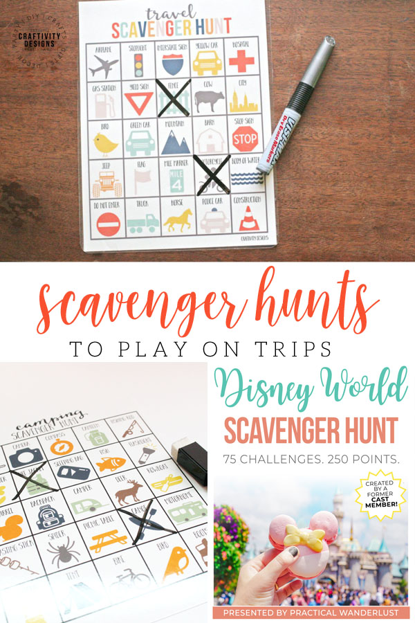 scavenger hunts to play on trips