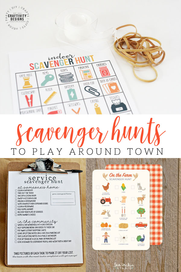 scavenger hunts to play around town