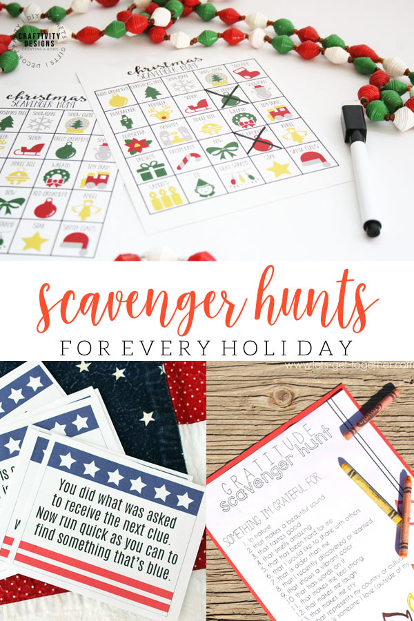 scavenger hunts for every holiday
