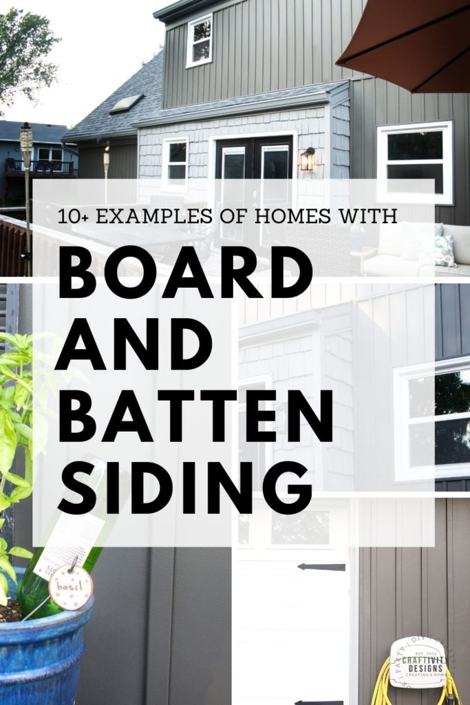 Dark Gray Board and Batten Siding - Text Overlay: 10 Examples of Homes with Board and Batten Siding