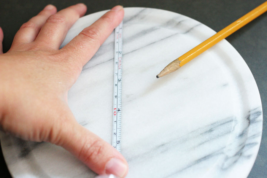 measure marble base