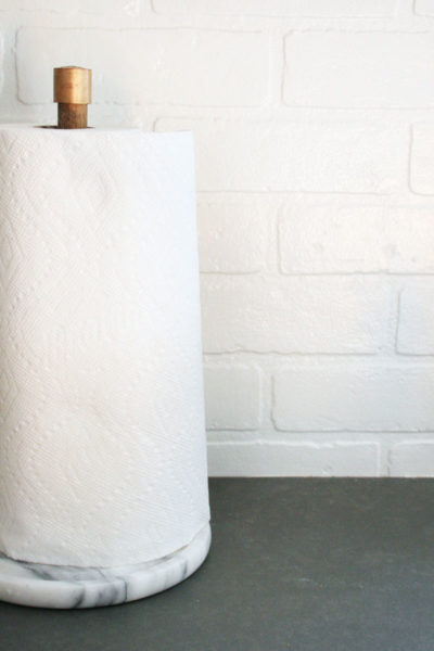 How to Make a Modern DIY Paper Towel Holder (with marble base)