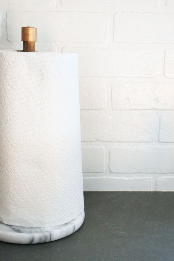 How To Make A Modern Diy Paper Towel Holder With Marble