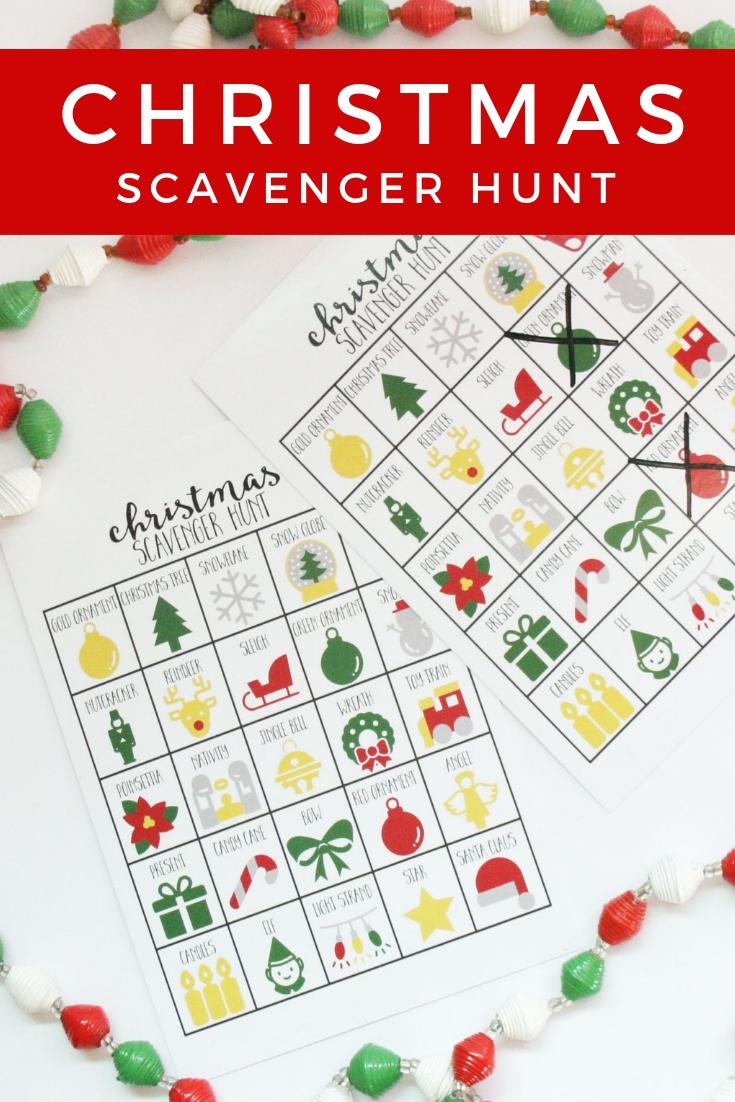 Christmas Scavenger Hunt.A Fun Christmas Scavenger Hunt For Kids And Adults