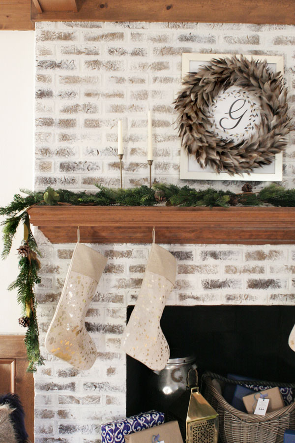How to German Schmear Brick (Mortar Wash Fireplace Makeover)