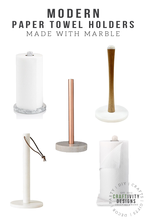 Modern Paper Towel Holders made with Marble