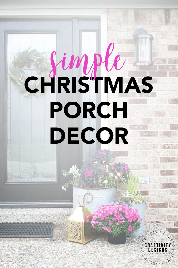 Simple Front Porch Christmas Decor Ideas