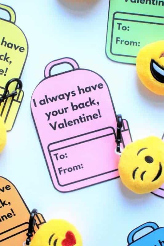 backpack valentines for kids