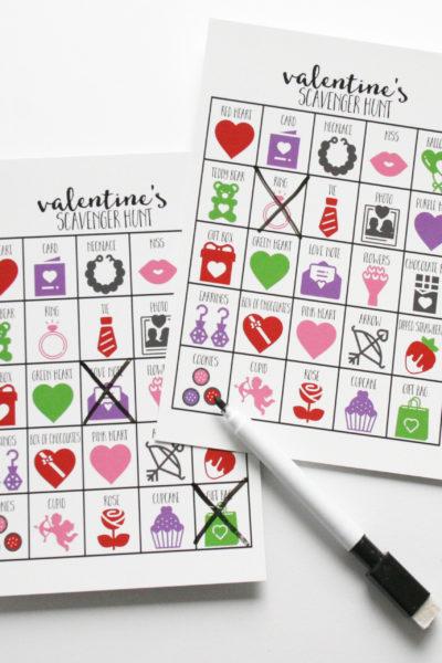 Valentines Scavenger Hunt