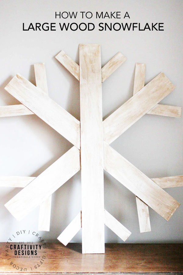 How to Make a Large Wood Snowflake
