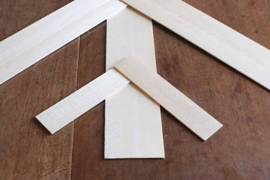 make a snowflake with wood strips